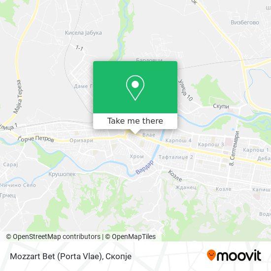 Mozzart Bet (Porta Vlae) map