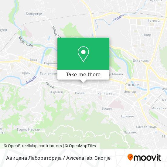 Авицена Лабораторија / Avicena lab map
