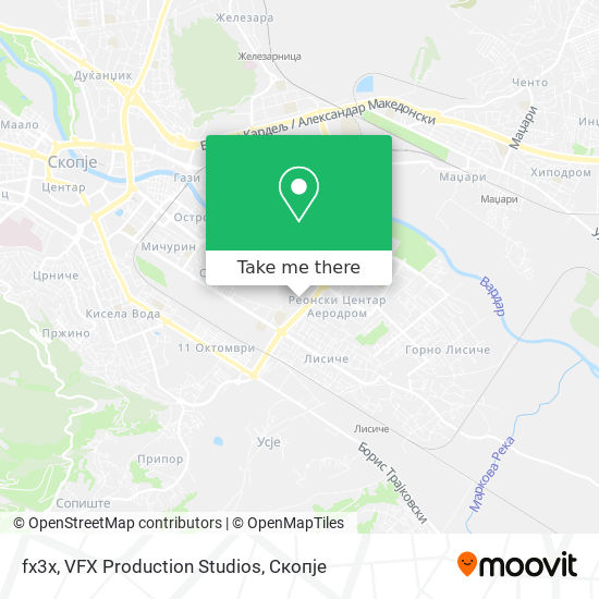 fx3x, VFX Production Studios map