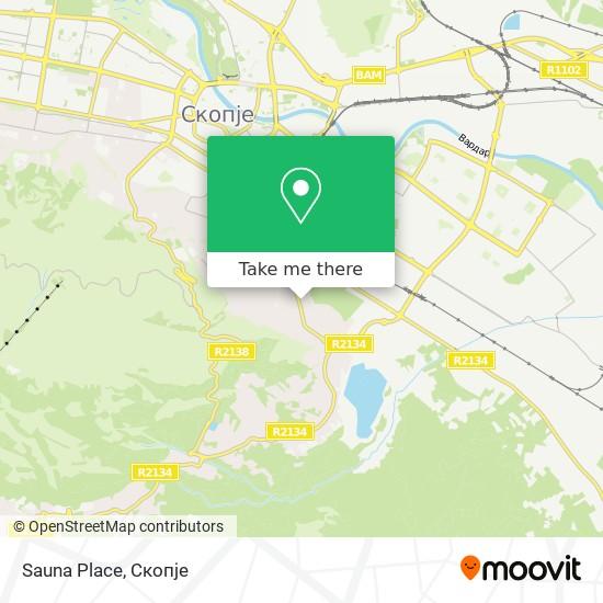 Sauna Place map
