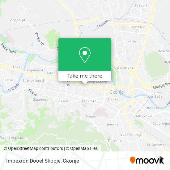 Impexron Dooel Skopje map