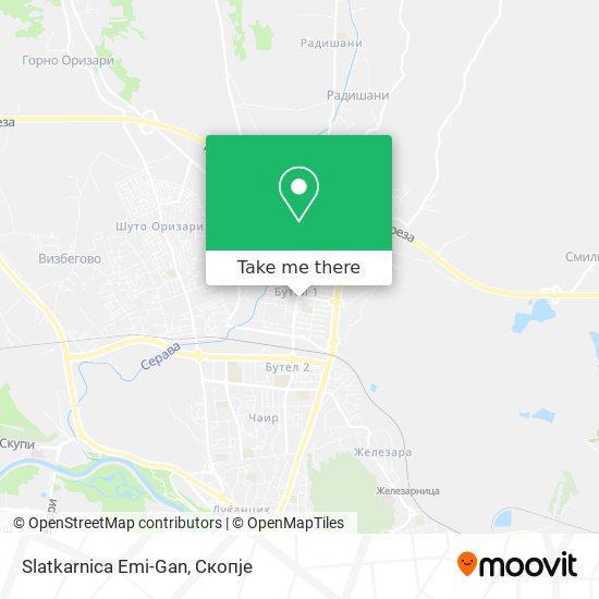 Slatkarnica Emi-Gan map