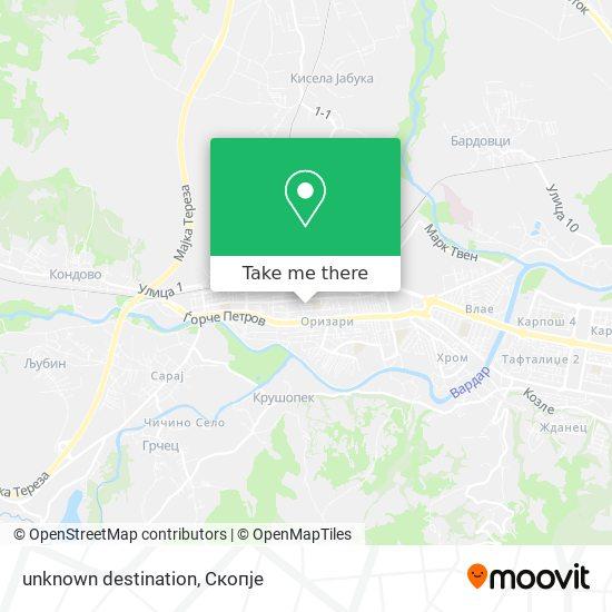 unknown destination map