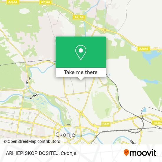 ARHIEPISKOP DOSITEJ map