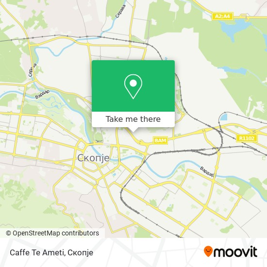 Caffe Te Ameti map