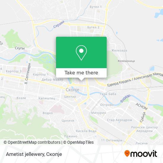 Ametist jellewery map