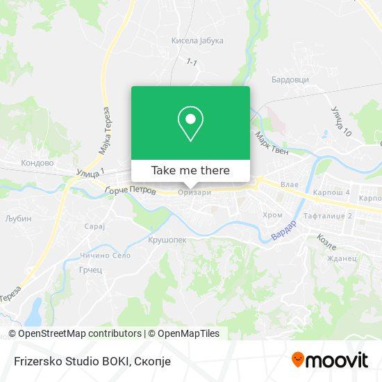 Frizersko Studio BOKI map