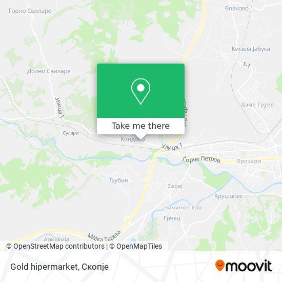 Gold hipermarket map
