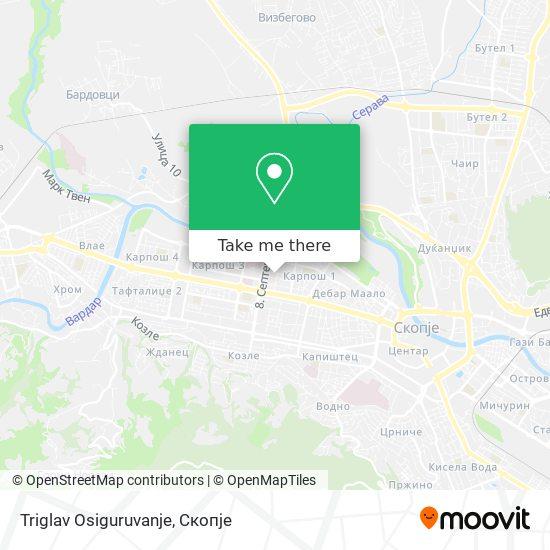 Triglav Osiguruvanje map