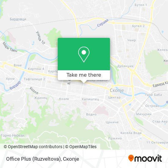 Office Plus (Ruzveltova) map