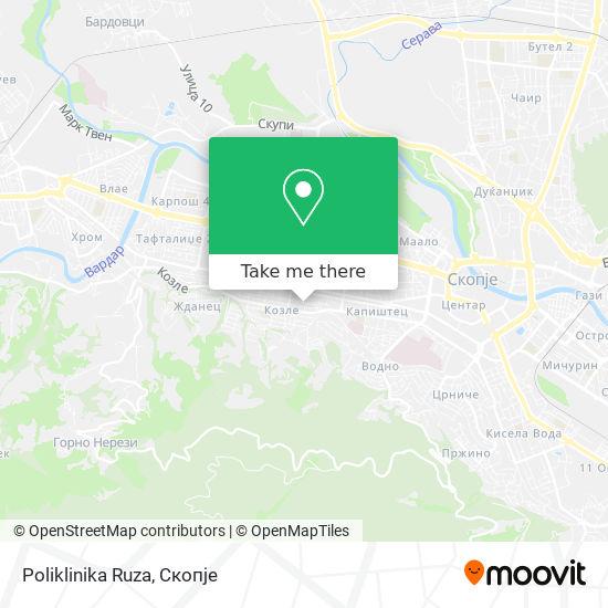 Poliklinika Ruza map