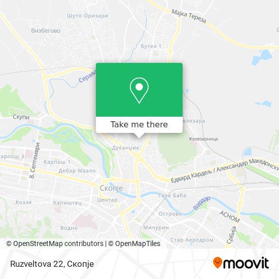 Ruzveltova 22 map