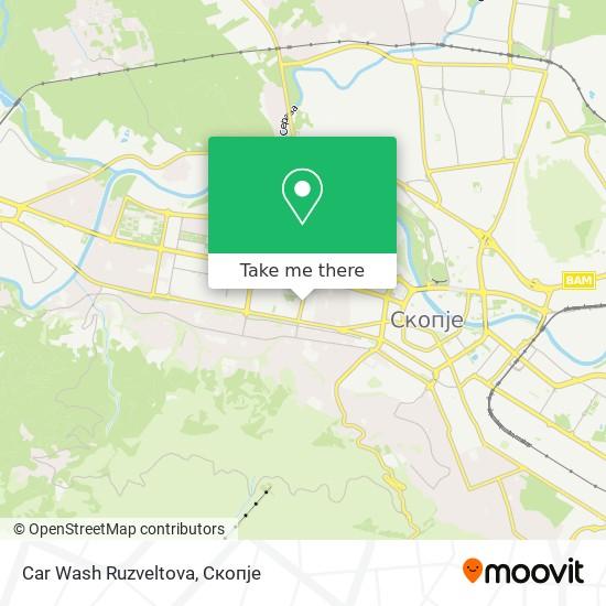 Car Wash Ruzveltova map