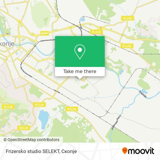 Frizersko studio SELEKT map