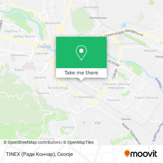 TINEX (Раде Кончар) map