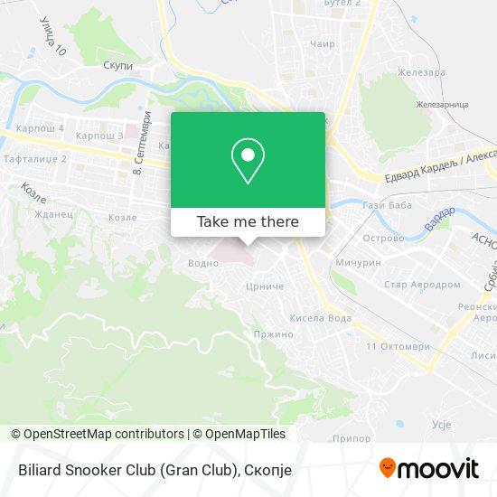 Biliard Snooker Club (Gran Club) map