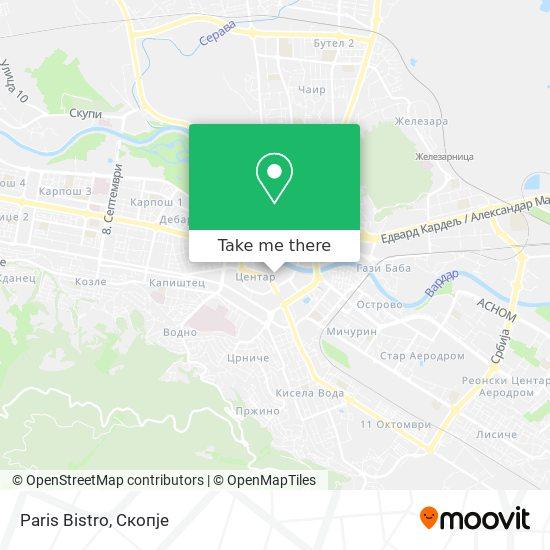 Paris Bistro map