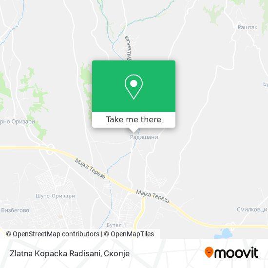 Zlatna Kopacka Radisani map