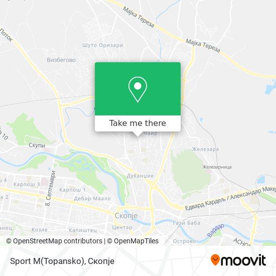Sport M(Topansko) map