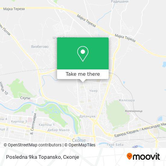 Posledna 9ka Topansko map