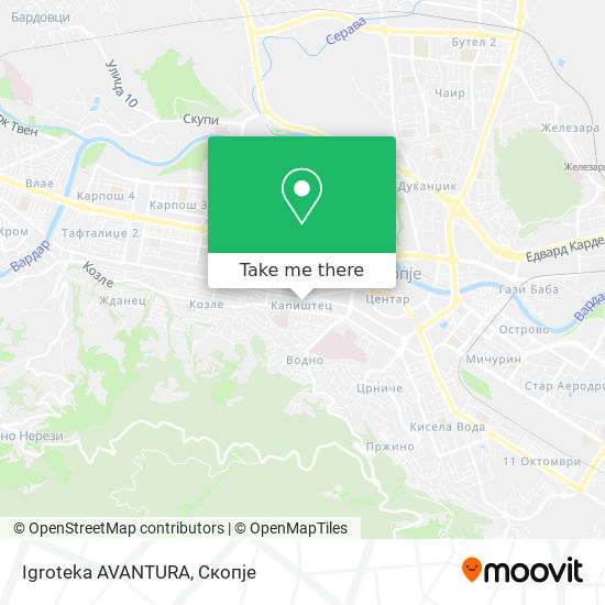 Igroteka AVANTURA map