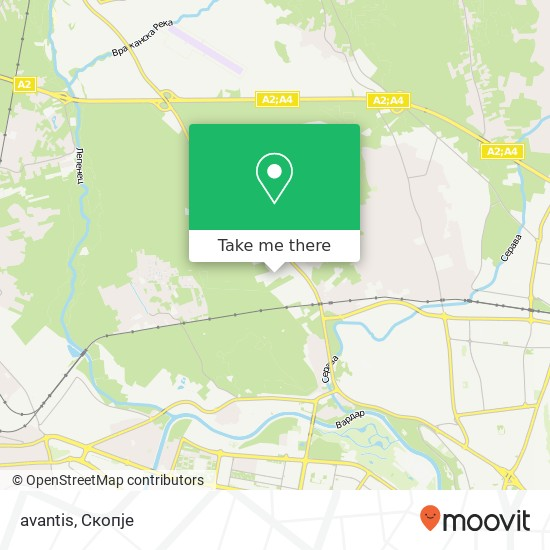 avantis map