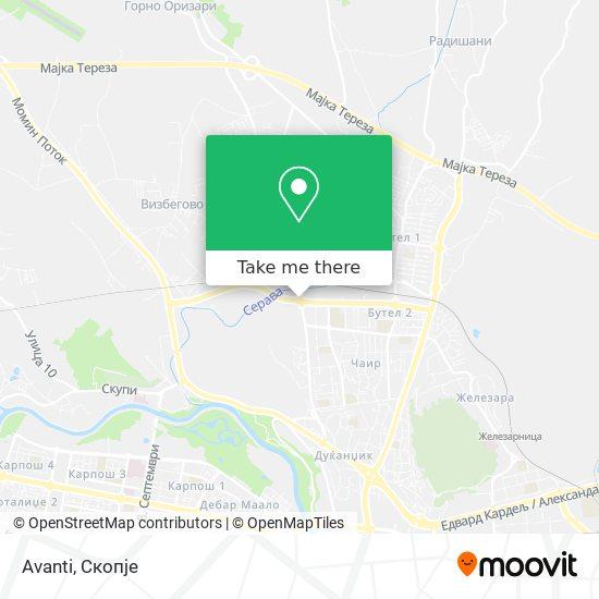 Avanti map