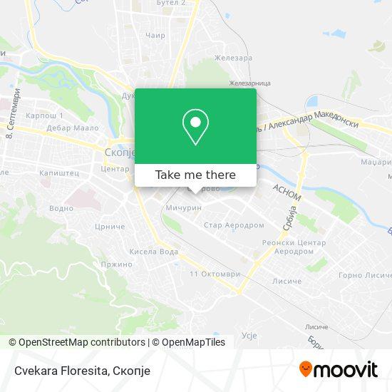 Cvekara Floresita map