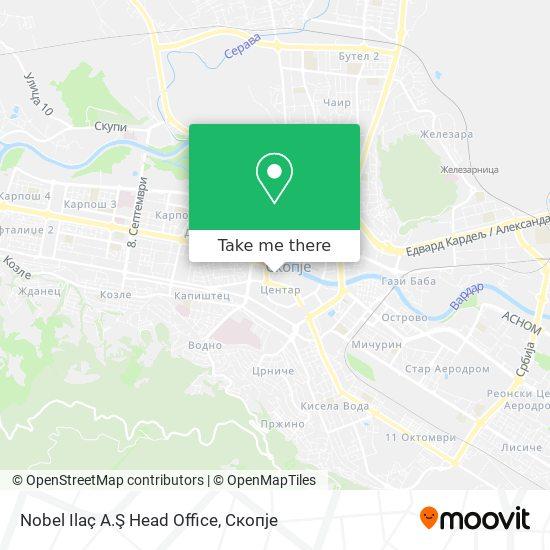 Nobel Ilaç A.Ş Head Office map