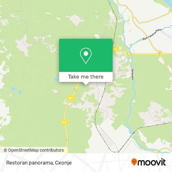 Restoran panorama map