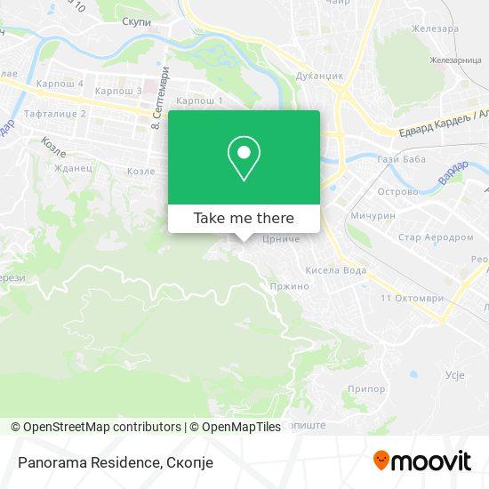 Panorama Residence map