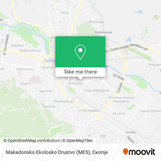 Makedonsko Ekolosko Drustvo (MES) map
