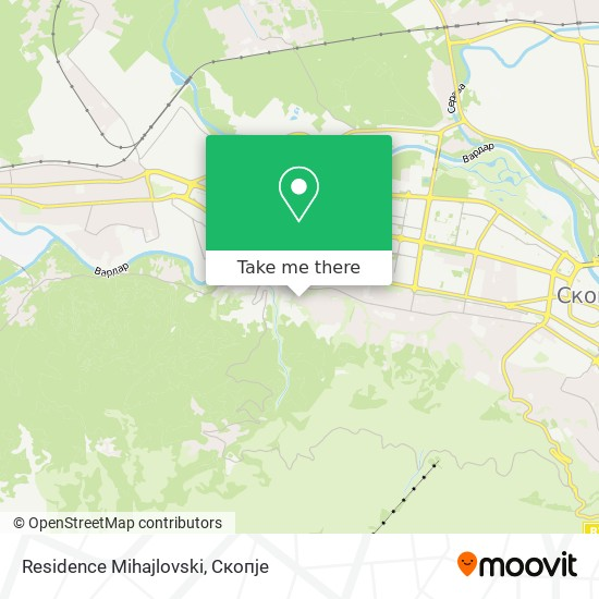 Residence Mihajlovski map