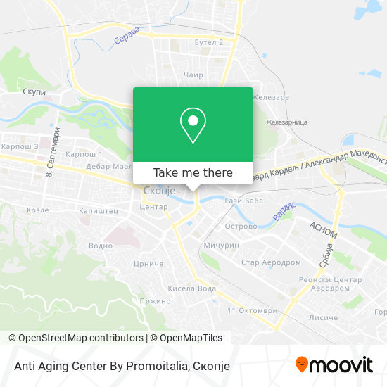 Anti Aging Center By Promoitalia map