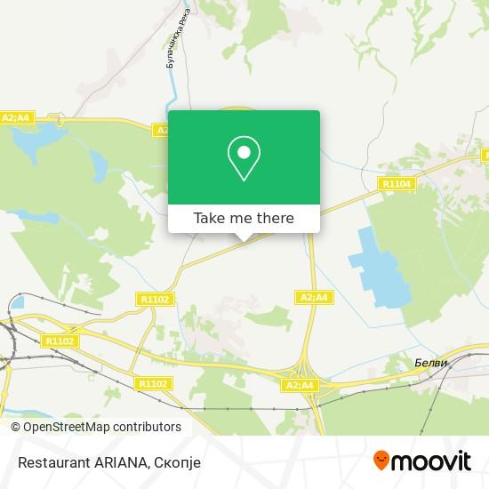 Restaurant ARIANA map