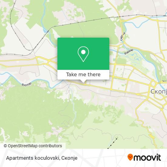 Apartments koculovski map