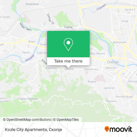 Kozle City Apartments map
