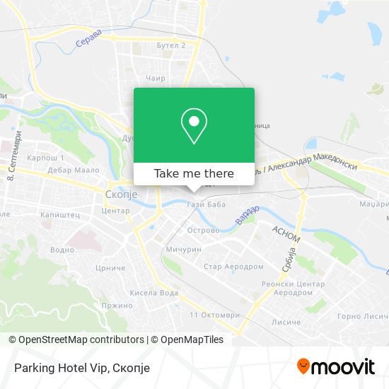 Parking Hotel Vip map