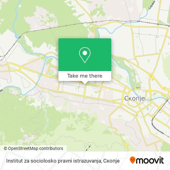 Institut za sociolosko pravni istrazuvanja map