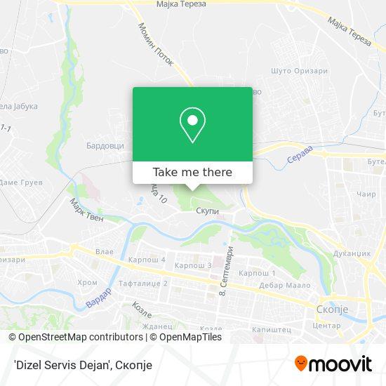 'Dizel Servis Dejan' map