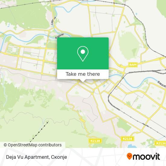 Deja Vu Apartment map