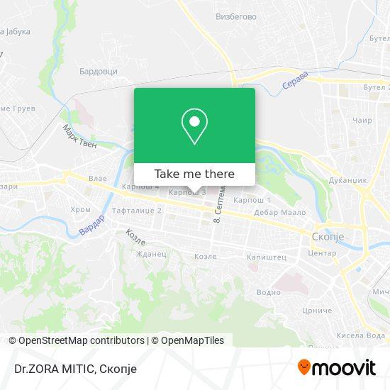 Dr.ZORA MITIC map