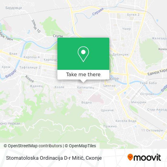 Stomatoloska Ordinacija D-r Mitič map