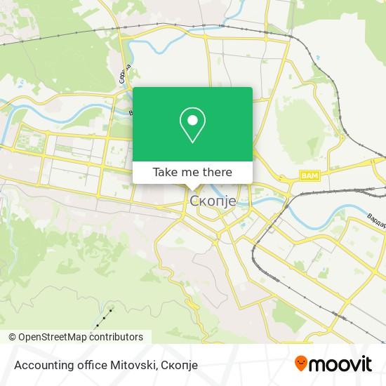 Accounting office Mitovski map