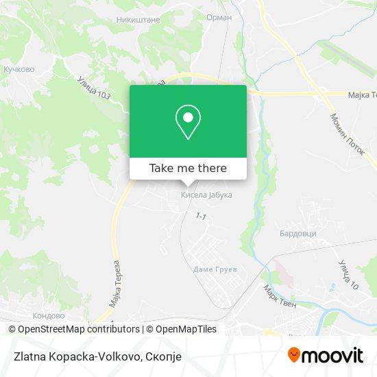 Zlatna Kopacka-Volkovo map