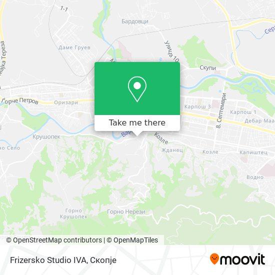Frizersko Studio IVA map