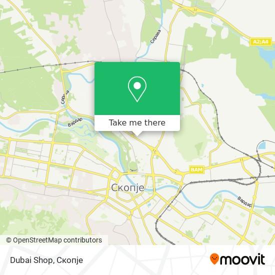 Dubai Shop map