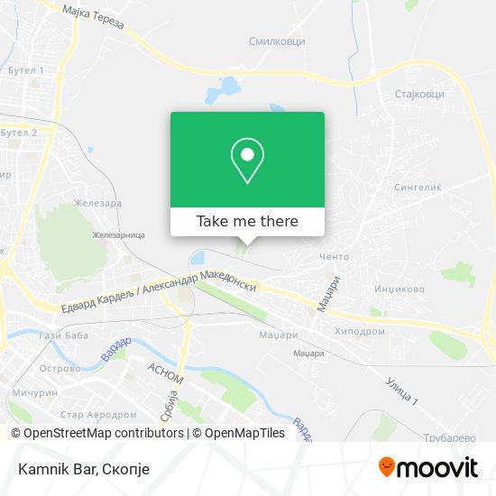 Kamnik Bar map