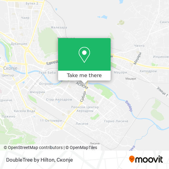 DoubleTree by Hilton map