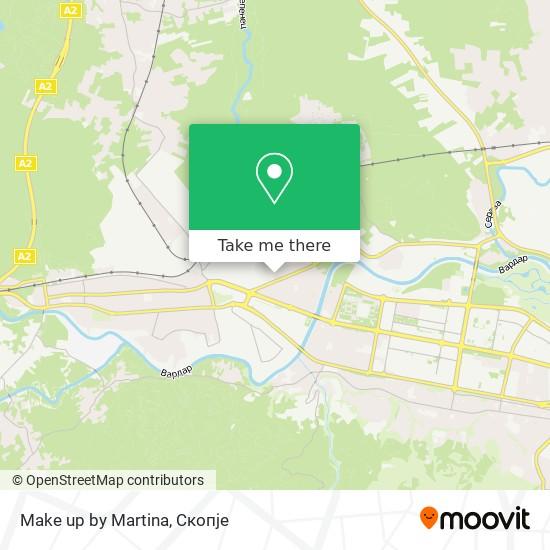 Make up by Martina map